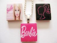 Barbie Pendant Necklace handmade (black, hot pink, pink) kitsch quirky design