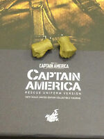Hot Toys SDCC Captain America Rescue Version Fist Hands Pair Loose 1/6th scale