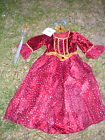 """""""Best Witches"""" Halloween Dress, Size 3/4-Y, """"Star Queen"""" W/Crown, Wand 3 yr &Up"""