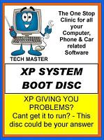 TECH MASTER ULTIMATE WINDOWS XP RECOVER FIX RESTORE SYSTEM BOOT DISC DVD CD WOW!