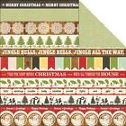 """Echo Park This & That Christmas """"Borders"""" 12x12 paper! 2 sheets"""