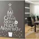 Merry Christmas Tree Removable Home Vinyl Wall Stickers Decal Decor