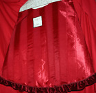"""LARGE CHRISTMAS TREE SKIRT 57"""" RED FULLY LINED PLUSH CHRISTMAS TREE SKIRT NEW"""