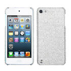 for Apple Ipod Touch 5th 6th Gen CLEAR SILVER Back DIAMOND SKIN CASE COVER