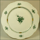 HEREND FIRST EDITION GREEN CHINESE BOUQUET PORCELAIN 11.25 INCH PLATE