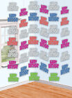 6 X PARTY CELEBRATION 7FT 'HAPPY BIRTHDAY' HANGING STRING FOIL DECORATIONS