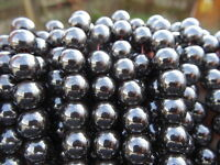 """10mm HEMATITE rounds, 16"""", approx 40 beads"""
