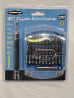 32 pc Magnetic Driver Guide Kit Pozi Hex Torx Star Slotted Phillips Screw Bits