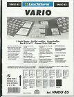 LIGHTHOUSE VARIO 8 STRIP STAMP ALBUM STOCK SHEETS BLACK Pack of 5 Strips 29mm