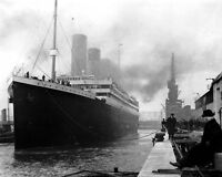 New 8x10 Photo: White Star Line Ill-Fated Liner RMS TITANIC in Port, 1912