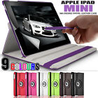Rotating Stand Folding Swivel Case Flip Wallet Cover for Apple iPad Mini 3 2