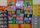 50 VINTAGE FACTORY SEALED FOOTBALL CARDS IN PACKS PLUS BONUS