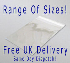 Cellophane Clear Self Seal With Flap Large Peel & Seal Bags!!! CHOOSE SIZE!!!