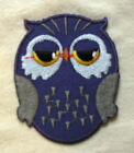 OWL PURPLE embroidered Iron Sew On Patch Emo Goth Punk Rock