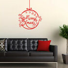 **MERRY CHRISTMAS BAUBLE HOME WALL SHOP WINDOW - Wall Quote Sticker / Decal