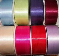 2 metres of Double Sided Satin Ribbon 35mm, 38mm 40mm wide