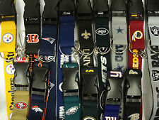 NFL Licensed Two Tone Lanyard Keychain Badge Ticket Holder NEW Pick Your Team!
