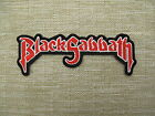 BLACK SABBATH RED embroidered Iron On/Sew On Patch Emo Goth Punk Rockabilly