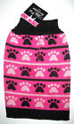 UGLY PET SWEATER ~ FOR DOGS (& CATS) ~ (XS) ~ PINK PAWS ~ CHRISTMAS APPAREL