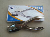 NEW!! SINGLE HOLE PUNCH SINGLE HOLE PLIER ONE HOLE PUNCH CHROME METAL PERFORATOR