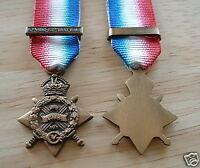 MEDALS - WW1 - 1914 STAR AND CLASP - MINIATURE