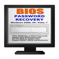 PC Bios Password Recovery Best Ever BOOT Disc Viewer CD XP Vista 7 etc easy use