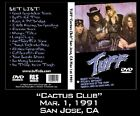 "TUFF ""Cactus Club"" LIVE 1991 signed DVD Hairbands Glam Rock Poison Motley Crue"