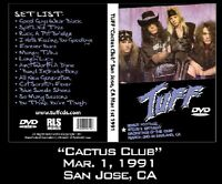 """TUFF """"Cactus Club"""" LIVE 1991 signed DVD Hairbands Glam Rock  Poison Motley Crue"""