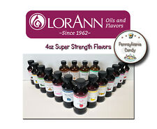 LorAnn Oils 4 oz Super Strength Flavoring Flavor Extracts Four Ounce Bottle
