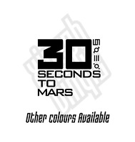 30 seconds to mars jared leto vinyl sticker decal skin laptop mac car window cd