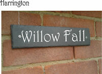 Natural Rustic Slate House Gate Sign Plaque Door Number Personalised Name Plate
