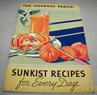 Vintage 1937 Sunkist Recipes For Every Day Recipe Book 48 Pages