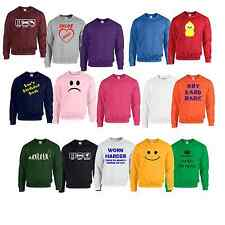 Sweatshirt Plain or personalised Sweat Shirt Jumper S to 7XL plus sizes #1