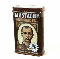 Mustache  deluxe - first aid in a tin - plasters / band aids