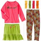 NWT 4 PC LOT Gymboree FALL FOR AUTUMN Girls Size 3 3T Skirt Top Leggings Hair