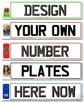 Pair of Number Plates,Registration plates,Show Plates