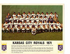 1971 KANSAS CITY ROYALS 8X10 TEAM PHOTO OTIS OLIVER BASEBALL MISSOURI USA