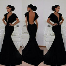 XMAS Sexy Women Sleeveless Prom Ball Cocktail Party Dress Formal Evening Gown