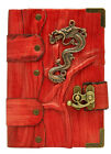 Dragon Sculpture Red Small Leather Bound Journal - Notebook - Diary - Sketchbook