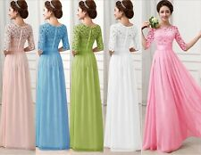 Sexy Women Long Chiffon Evening Formal Wedding Party Bridesmaid Cocktail Dresses