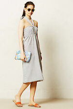 Anthropologie Seersucker Convertible Maxi MP, LP, Blue Striped Sundress By l.d.