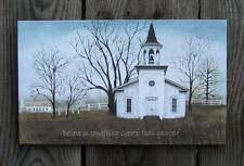 "Billy Jacobs 10"" x 6"" Rustic Country Church Canvas-Wood Frame Wall Print Picture"
