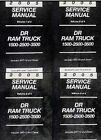 2005 DODGE RAM TRUCK 1500 2500 3500 Service Shop Repair Manual SET FACTORY