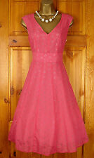 NEW DEBENHAMS PINK FLORAL PARTY PROM COCKTAIL DRESS VINTAGE 50s STYLE UK 8 - 20