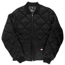 Dickies Diamond Quilted Nylon Jacket Men's Black Zip Up Style # 61242BK