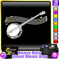 Banjo Curved Stave - Sheet Music & Accessories Personalised Bag by MusicaliTee