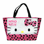 Sanrio Hello Kitty Large Tote Hand Bag Shoulder Bag W/Heart Design - Pink Bow