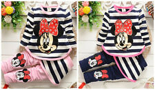 New cotton 2pcs baby Girls clothes tops+pants Set Outfits spring autumn clothes