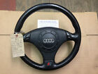 AUDI A4 A6 A8 TIPTRONIC LEATHER 3 SPOKE STEERING WHEEL 4B0419091BG AND AIRBAG