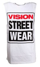 Vision Logo muscle white tank top taille s-xl